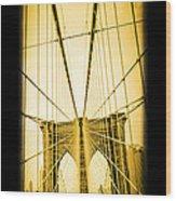 The Brooklyn Bridge New York Wood Print