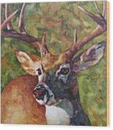 The Buck Stops Here Wood Print
