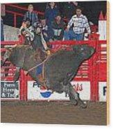 The Bull Rider Wood Print by Larry Van Valkenburgh