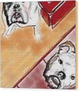 The Bulldogs Wood Print