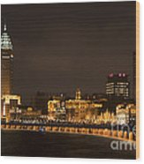 The Bund, Shanghai Wood Print