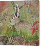 The Bunny Wood Print