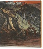 The Burden Of Taxation, Illustration Wood Print