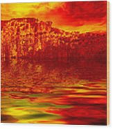 The Burning Zone Wood Print by Wendy J St Christopher