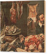 The Butcher's Shop Wood Print