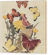 The Butterfly Book Wood Print