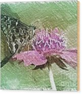 The Butterfly Visitor Wood Print
