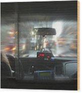 The Cab Ride Wood Print