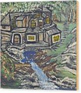 The Cabin Wood Print