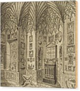 The Cabinet, Engraved By T. Morris Wood Print