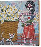 The Calla Lily Flower Vendor Wood Print