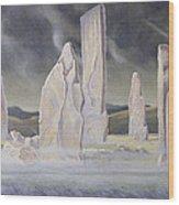 The Callanish Legend Isle Of Lewis Wood Print
