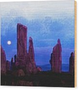 The Callanish Stones Scotland Wood Print