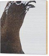 The Calling Ptarmigan Wood Print