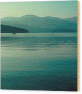 The Calmness Of Priest Lake Wood Print
