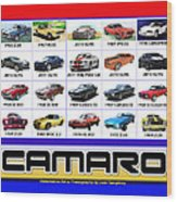 The Camaro Poster Wood Print