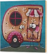 The Camper Van Wood Print