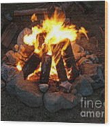 The Campfire Wood Print by Boon Mee