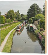 The  Trent And Mersey Canal At Alrewas Wood Print