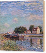 The Canal At Saint-mammes Wood Print