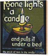 The Candle Wood Print by Patricia Howitt