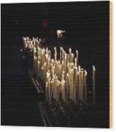 The Candles. Duomo. Milan Wood Print