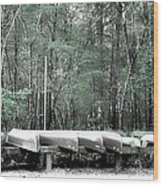 The Canoes  Wood Print