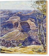 The Canyon Wood Print