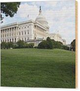 The Capitol Hill View Washington Dc Wood Print