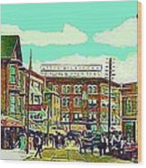 The Capitol Theatre And Main St. In Pawtucket Ri In 1905 Wood Print