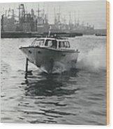 The �captain�s Barge� - 1963 Version Wood Print