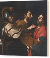 The Capture Of Christ Wood Print
