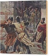 The Capture Of Constantinople Wood Print