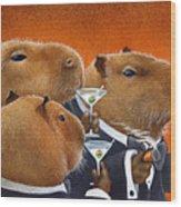 The Capybara Club... Wood Print