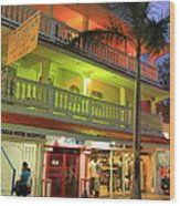 The Caribbean Hotel Wood Print