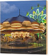 The Carnival Is In Town Wood Print