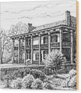 The Carnton Plantation In Franklin Tennessee Wood Print