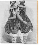 The Carolina Twins, 1866 Wood Print