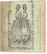 The Carolina Twins, C1869 Wood Print