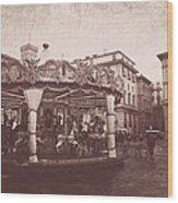 The Carousel  Wood Print