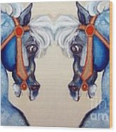 The Carousel Twins Wood Print