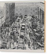 The Carriage Department Wood Print