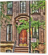 The Carrie Bradshaw Stoop From Sex And The City Wood Print
