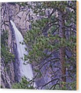 The Cascades Yosemite Np Wood Print