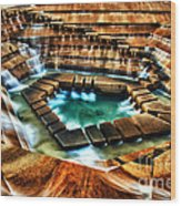 The Cascading Falls - Fort Worth Water Garden  Wood Print