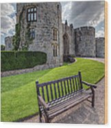 The Castle Bench Wood Print