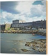 The Castle Fort On The Harbor Wood Print
