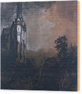 The Castle In The Moonlight  Wood Print