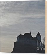 The Castle Silhouette Wood Print