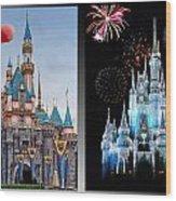 The Castles Of Disney 2 Panel Vertical Wood Print